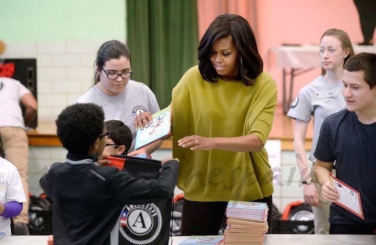 Barack Obama y su esposa Michelle en el día de Martin Luther King