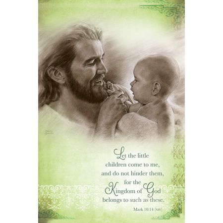 Baby Dedication Jesus Holding Baby Bulletins Angel Baby
