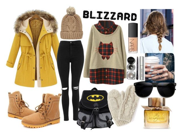"""brrr blizzard"" by madalina-elena-istrati on Polyvore featuring Topshop, Bibico, Chicnova Fashion, Floss Gloss, Bobbi Brown Cosmetics, NARS Cosmetics and Burberry"