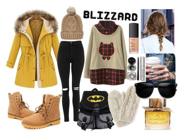 """brrr blizzard"" by madalina-elena-istrati on Polyvore featuring Topshop, Bibico, Chicnova Fashion, Floss Gloss, Bobbi Brown Cosmetics, NARS Cosmetics and Burberry"