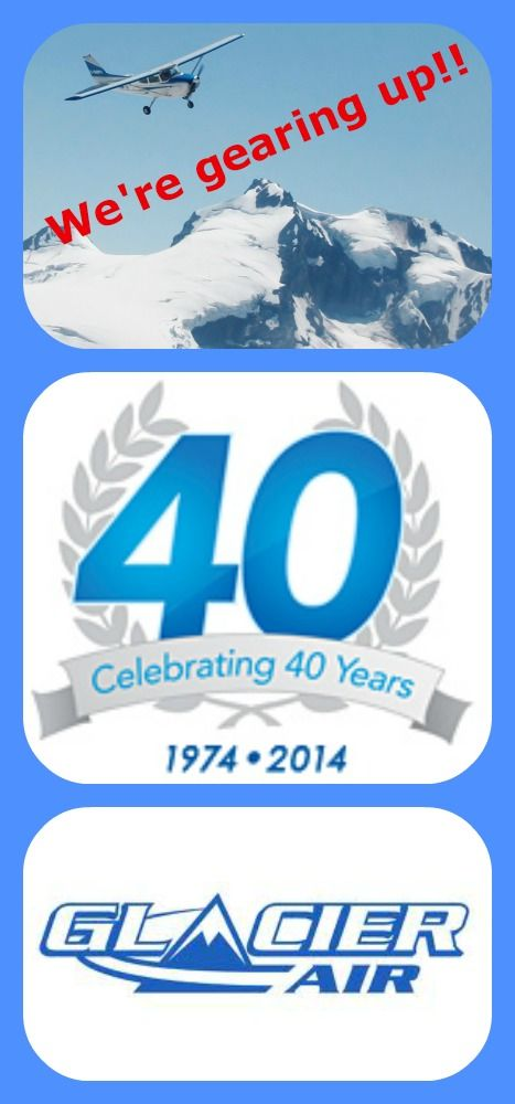 Guess who's gearing up for 40!! You got it... Stay tuned for more 40th anniversary Glacier Air goodies!!