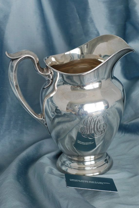 Silver Water Pitcher Gorham Sterling Silver by SilverMagpies