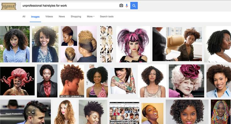 "If You Google ""Unprofessional Hairstyles for Work,"" These Are the Problematic Results"