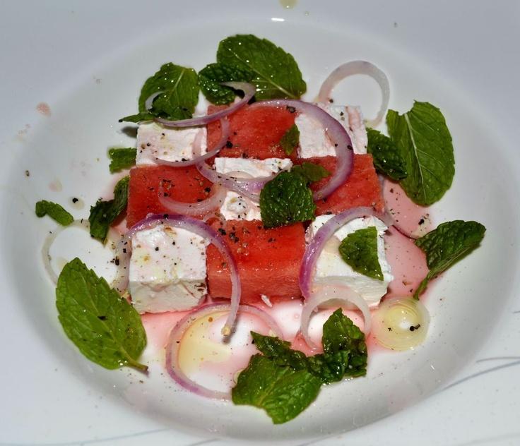 Watermelon Salad- checkerboard plating « My Cooking Adventures
