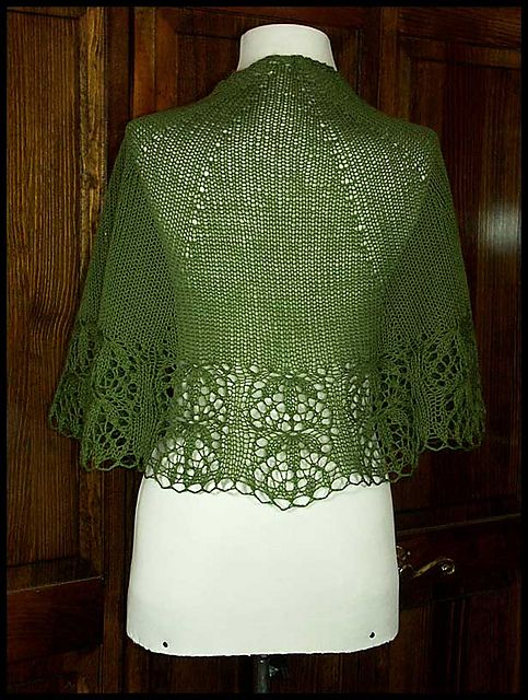 """Nefertem"" shawlette knit in 100% Peruvian Highland wool fingering weight yarn (pattern by Kirsten Kapur)"