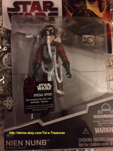 2009 B-Wing Pilot Nien Nunb #BD19 Star Wars Legacy Collection
