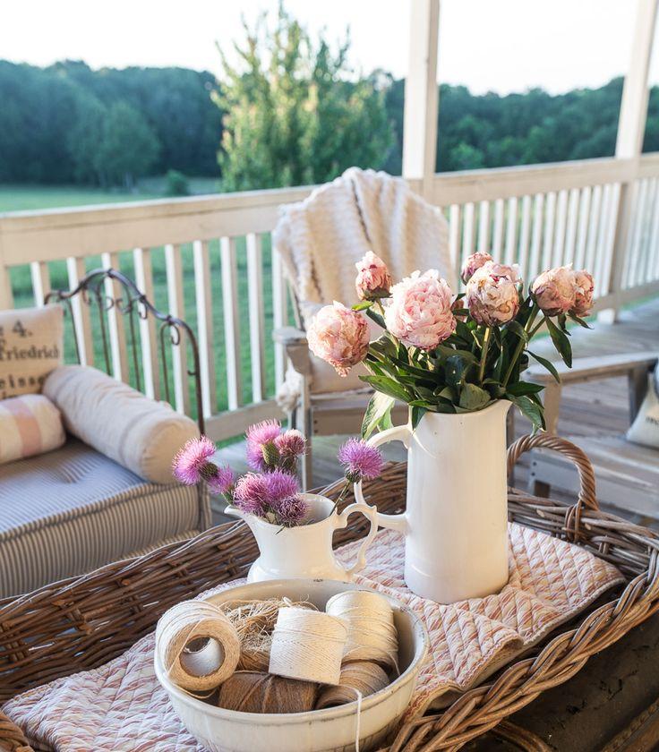 Country French Summer Porch Decorating - Cedar Hill Farmhouse