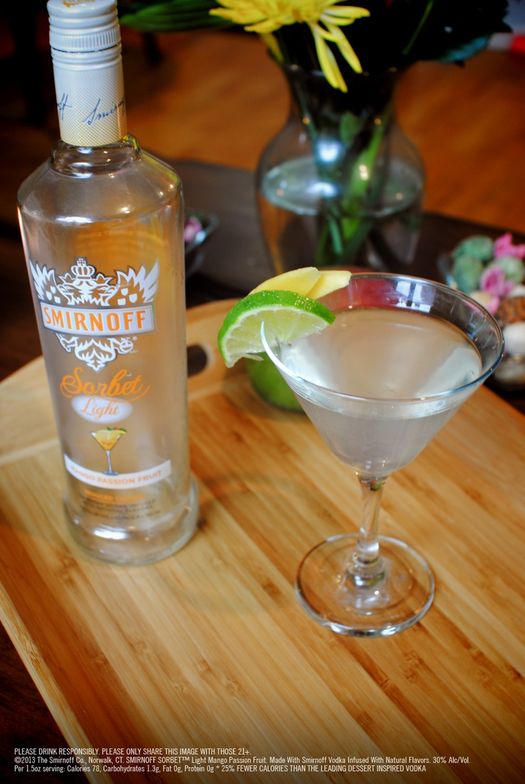 20 best smirnoff sorbet light mango passion fruit images for Light cocktails with vodka