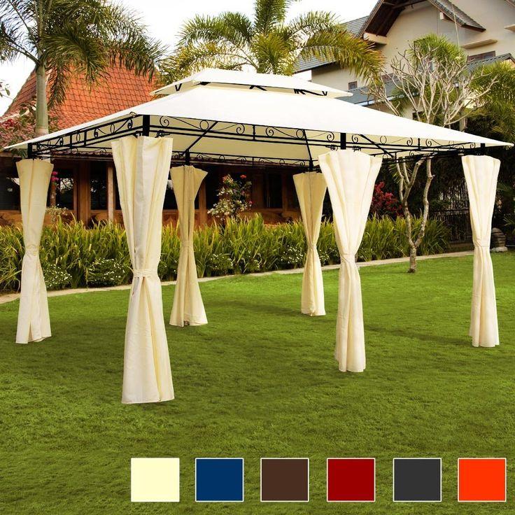 Best AmazonSmile Luxus Pavillon TOPAS Festzelt x Partyzelt Garten Pavillion Gartenzelt Gartenpavillon Beige