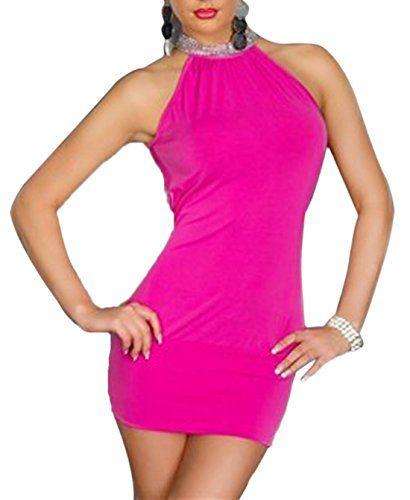 Simple-Fashion Donna Estivi Vestiti Hot Moda Tinta Unita Abito da Sera  Cerimonia Cocktail Partito a1e19a1d190