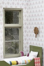 ferm LIVING Dotty - Rose - Rose / Grey / Light Rose Children's Wallpaper - Click to enlarge