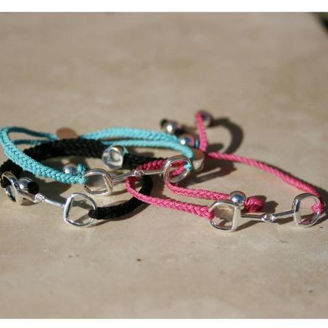 Silver Snaffle Friendship Bracelet