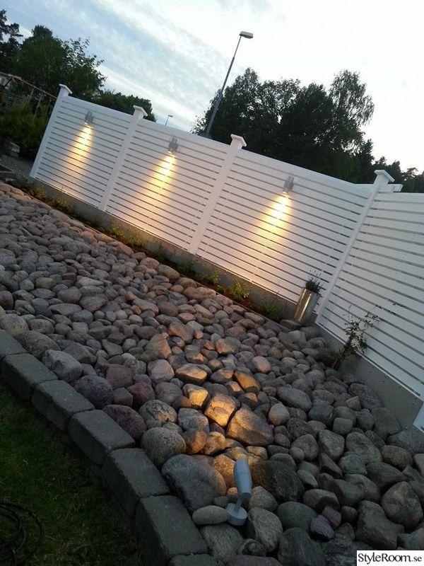 trädgård,stenparti,plank