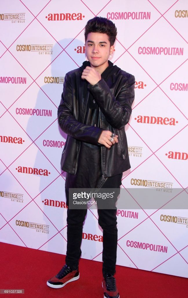 Mexican singer Mario Bautista poses during the Cosmo Fashion Night Red Carpet on May 30, 2017 in Mexico City, Mexico.