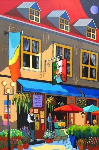 Soirée romantique au Portofino, Vieux Québec - Louise Marion, artiste peintre…