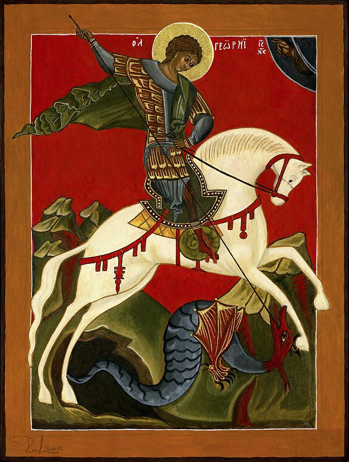St George And The Dragon by Raffaella Lunelli