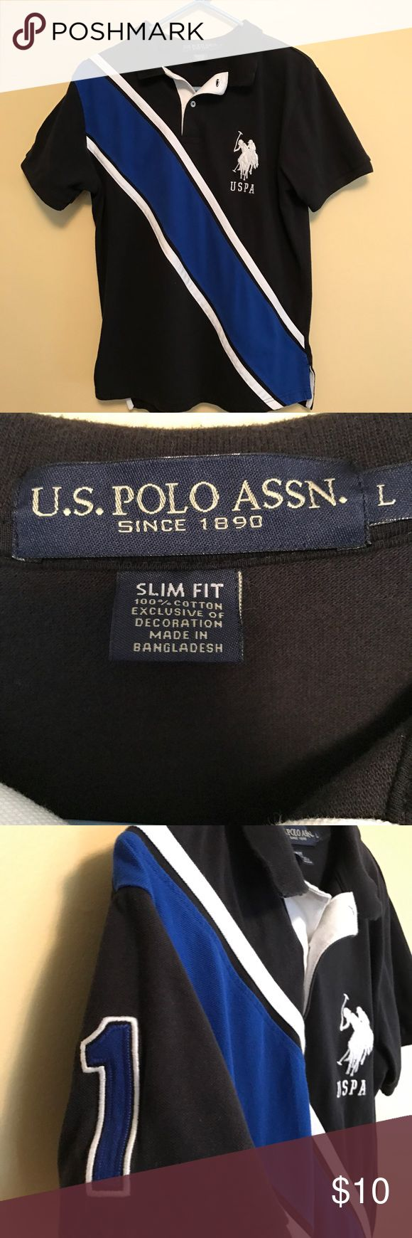 Mens U.S. Polo shirt Men's US Polo Association shirt size large. Slim fit 100% cotton and machine washable gently left condition. U.S. Polo Assn. Shirts Polos