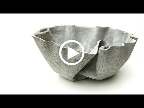 ShapeCrete :: Draped Planter How-To - YouTube