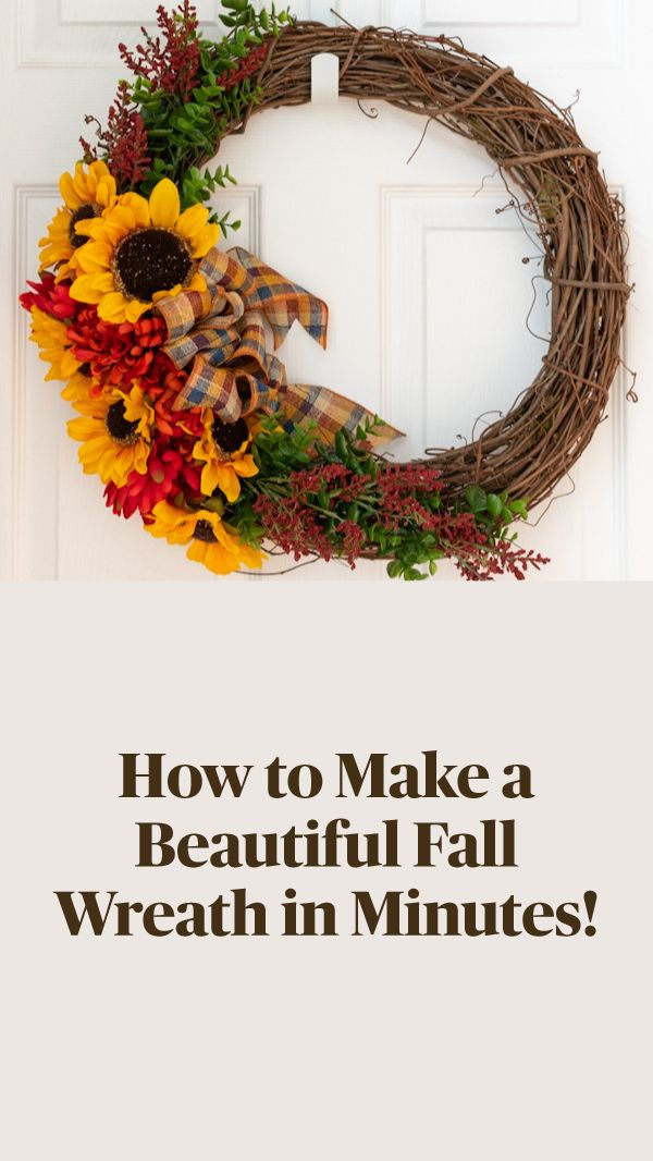 Easy Fall Wreaths, Autumn Wreaths For Front Door, Diy Fall Wreath, Wreath Crafts, Fall Diy, Wreath Ideas, How To Make Wreaths, Fall Decorations Diy, Fall Wreath Tutorial