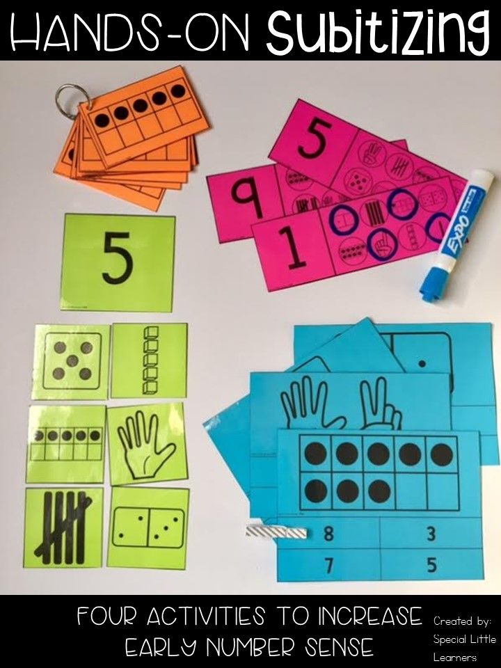 Hands-On Subitizing  These subitizing activities are great for students who need hands-on practice recognizing numbers 0-10. Included are four activities to build number sense for your students.