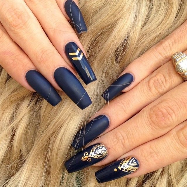Best 20 Navy Blue Nail Designs Ideas On Pinterest