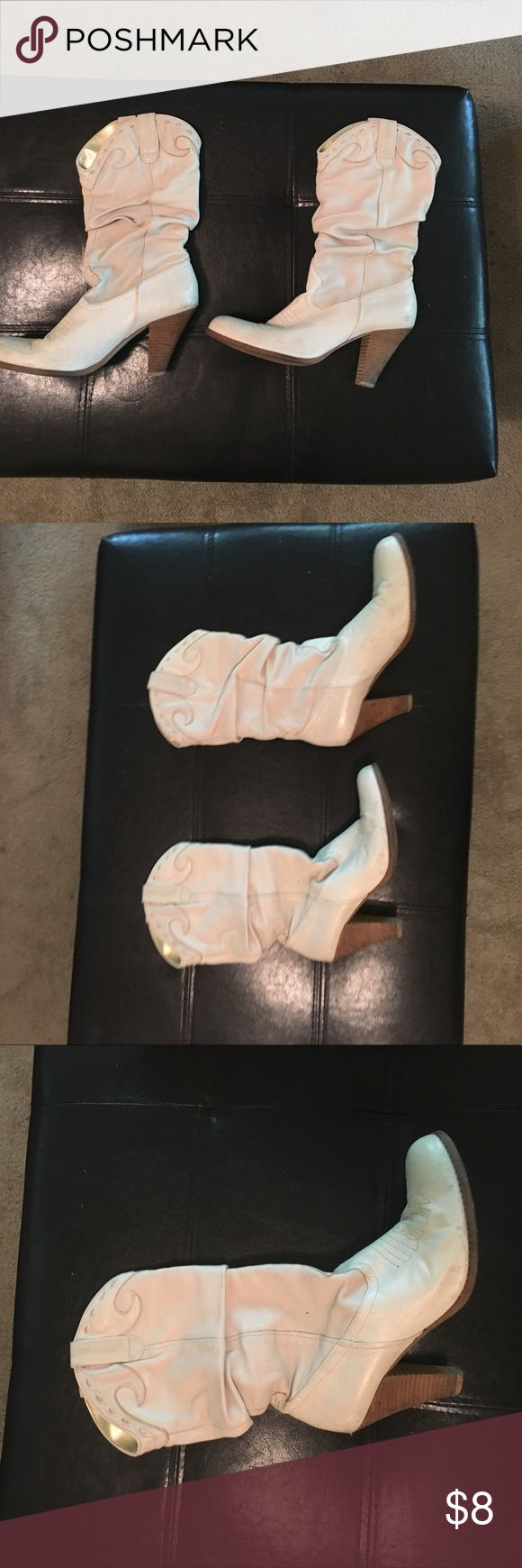 💙 2 for $5 💙Jessica Simpson Fashion Cowboy boots Jessica Simpson fashion cowboy boots - very worn! But still good to wear for a barn party 😉 Jessica Simpson Shoes Heeled Boots