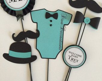 Custom Little Man Mustache Baby Shower by DivaDecorations on Etsy