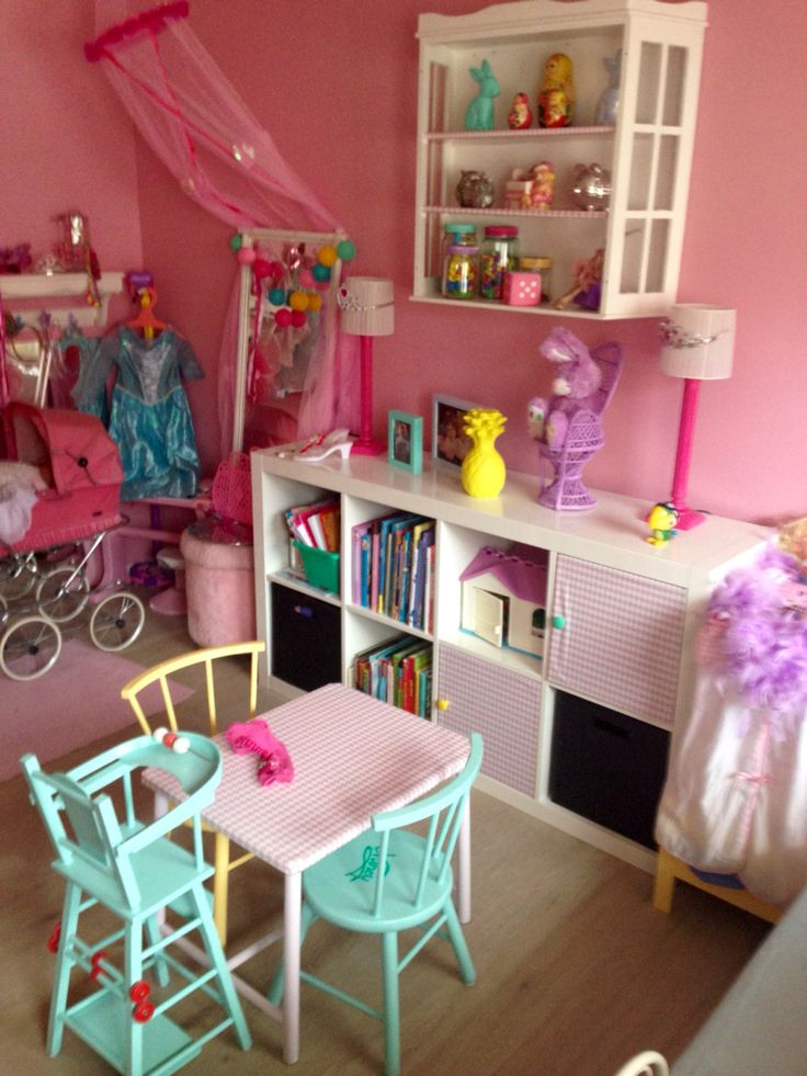 Dream Girls bedroom. Playroom. Pink and DIV Home decor