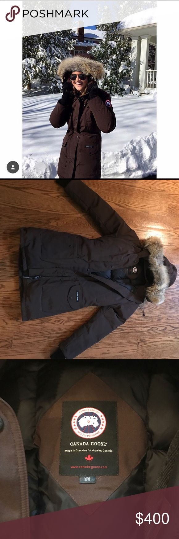 Canada Goose down jacket This is the warmest winter jacket you will ever find and it's super stylish. I've only worn it a couple times so it's basically brand new! I'm going to be very firm on this price because Canada Goose never goes on sale and I won't sell it for anything less than $375. Canada Goose Jackets & Coats Puffers