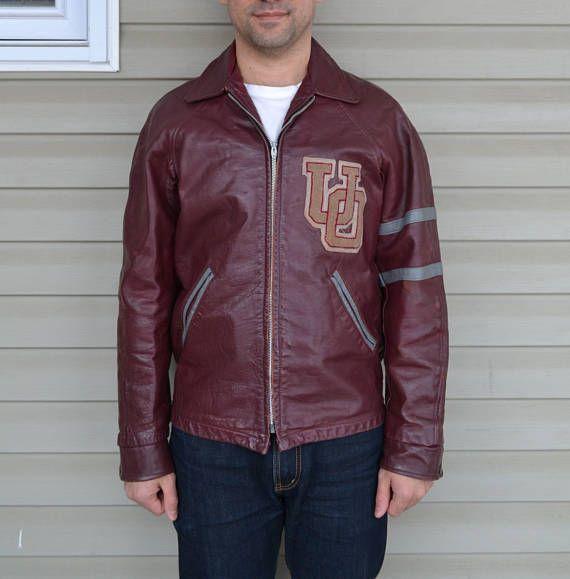 University of Ottawa Leather Varsity Jacket #universityofottawa #ottawa #canada #varsityjacket #vintagevarsityjacket #vintage #vintagestyle #vintagefashion
