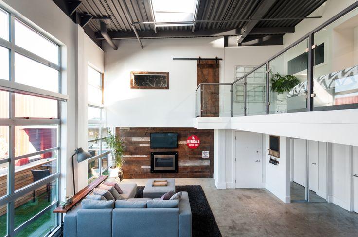 modern double height loft