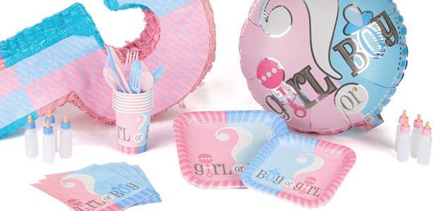 Decoration Baby Shower Girl or Boy ? pour baptême et baby shower sur VegaooParty