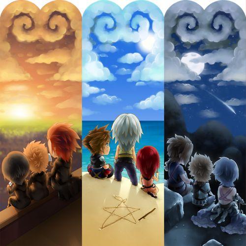 Xions, Roxas and Axel ♥ Sora, Riku and Kairi ♥ Terra, Ventus e Aqua • Kingdom Hearts