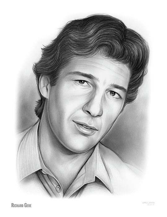 Richard Gere - Pencil Sketch of the Day, Sunday, June 25, 2017  Richard Tiffany Ger (born August 31, 1949) is an American actor and humanitarian activist. He began acting in the 1970s, playing a supporting role in Looking for Mr. Goodbar (1977) and a starring role in Days of Heaven (1978). He came to prominence with his role in the film American Gigolo (1980), which established him as a leading man and a sex symbol. He went on to star in many well-received films, including An Officer and a…
