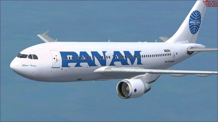 Pan Am Airbus A310-324 in flight.Airbus A310324, Airlines, Planes