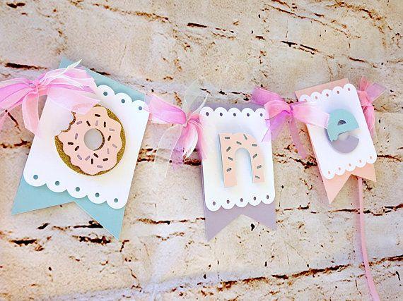 Donut First Birthday! Donut First Birthday Banner First Birthday High Chair Banner Donut Party