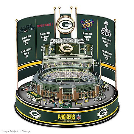 Green Bay Packers Super Bowl Champions Lighted Rotating Carousel: 1 of 5000