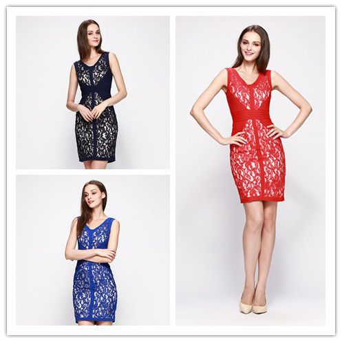 Free Shipping June'syoung 2015 Summer Fashion Women Dress Special Designer Embroidery Lace Elegant Lady Evening Party Work Dress US $56.00 /piece  CLICK LINK TO BUY THE PRODUCT  http://goo.gl/oYWEYs
