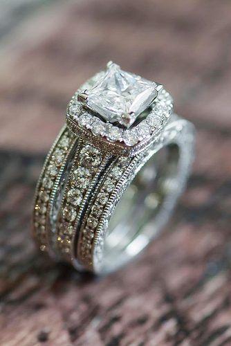 halo engagement rings princess cut shanecompany via instagram #princesscutring
