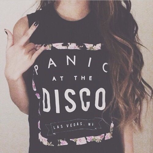 I love this shirt from Hot Topic!! I don't know much of Panic! At the disco, but still, the design is amazing!! -Iballistickitty