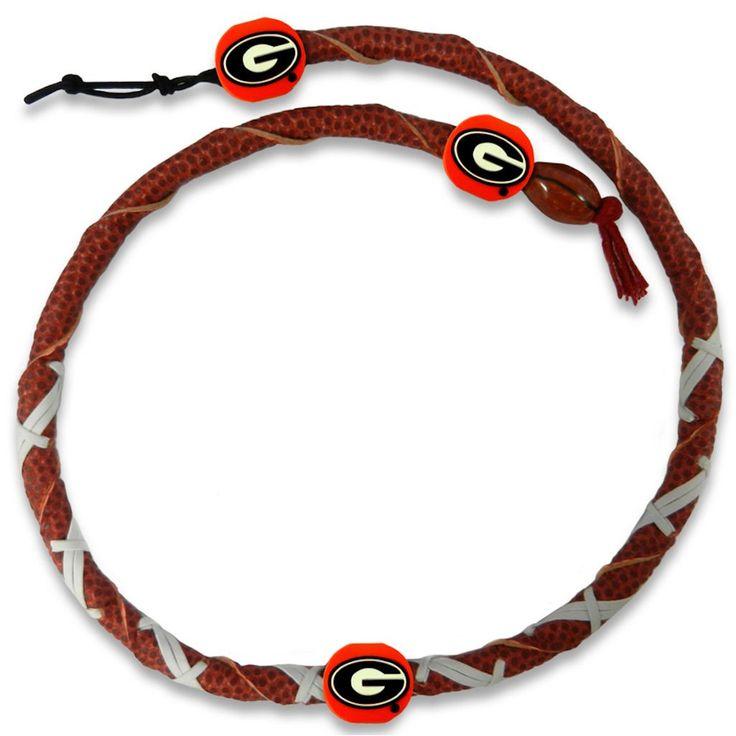Georgia Bulldogs Spiral Football Necklace