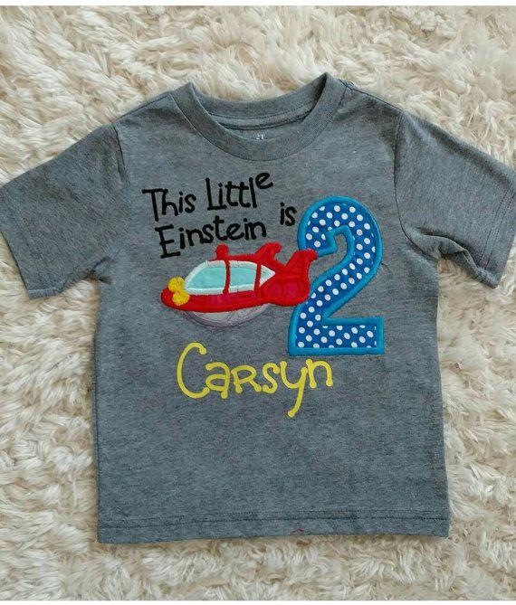 Little Einsteins inspired birthday shirt by SewCreativeMommy