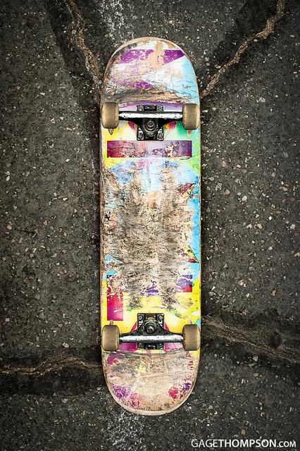 used skate deck