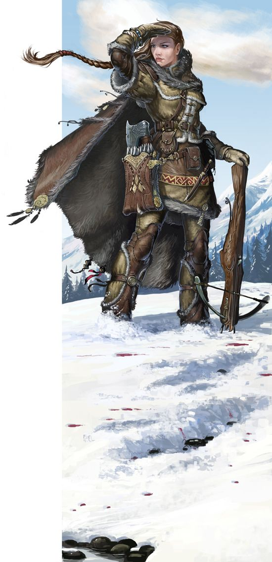 Gwenn by *BenWootten, Warrior woman in the snow using a crossbow