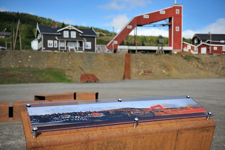 Information on the parkering area at Folldal Mines. Photo: Jarle Wæhler