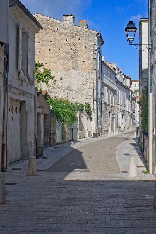 Back street in old Saintes - Saintes, Poitou-Charentes, France