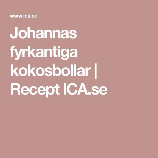 Johannas fyrkantiga kokosbollar | Recept ICA.se