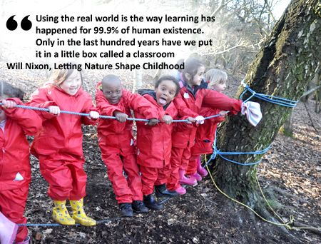 pictures of outdoor learning spaces | ... learning and teaching outdoors and developing spaces for learning
