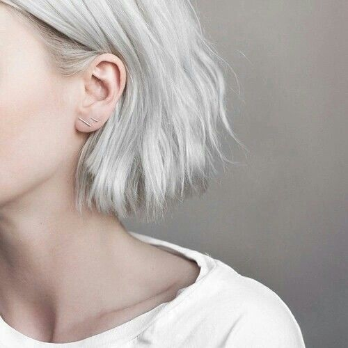 aesthetic, earrings, girl, photography, tumblr, white, white hair, First Set on Favim.com, white aesthetic