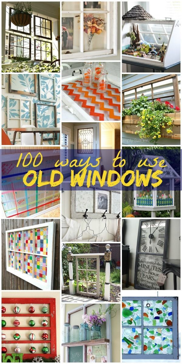 Wondering what you could do with a salvaged window? See 100 ideas for how to use old windows, glass paned or not, from decor to furniture.